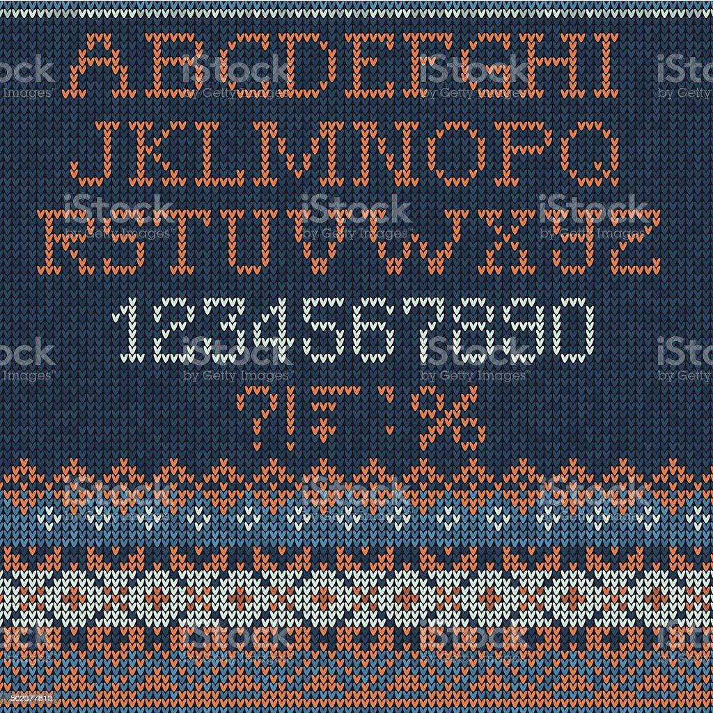 Navidad Fuente: Estilo escandinavo tejido sin costuras - ilustración de arte vectorial