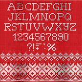 Vector Illustration of Christmas Font