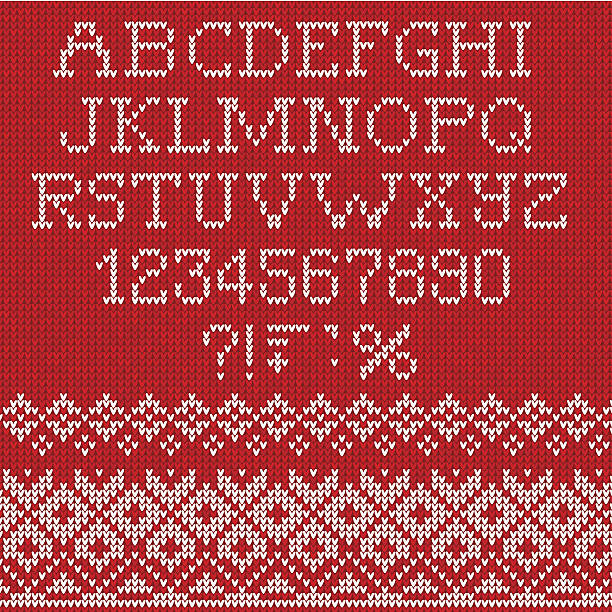 Christmas Font Vector Illustration of Christmas Font alphabet backgrounds stock illustrations