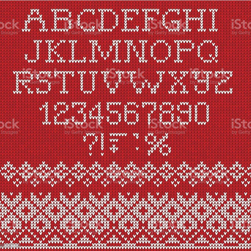 Christmas Font vector art illustration