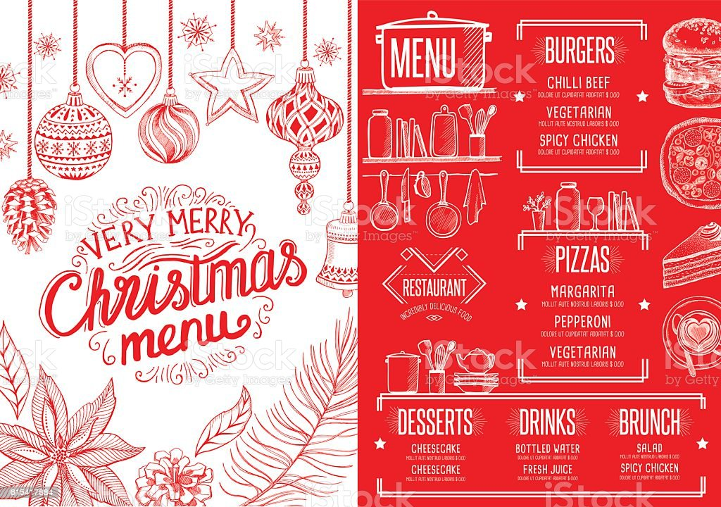 Christmas food menu happy new year party invitation restaurant stock happy new year party invitation restaurant royalty free christmas food stopboris Image collections