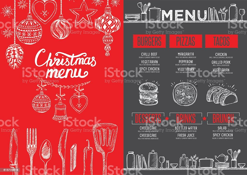 Christmas food menu happy new year party invitation restaurant stock happy new year party invitation restaurant royalty free stock vector stopboris Images