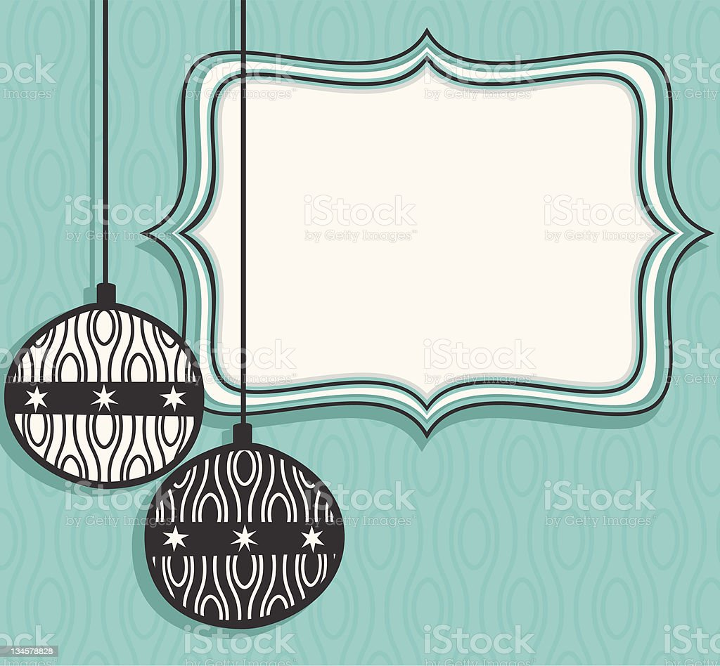 Christmas Frame and baubles royalty-free stock vector art