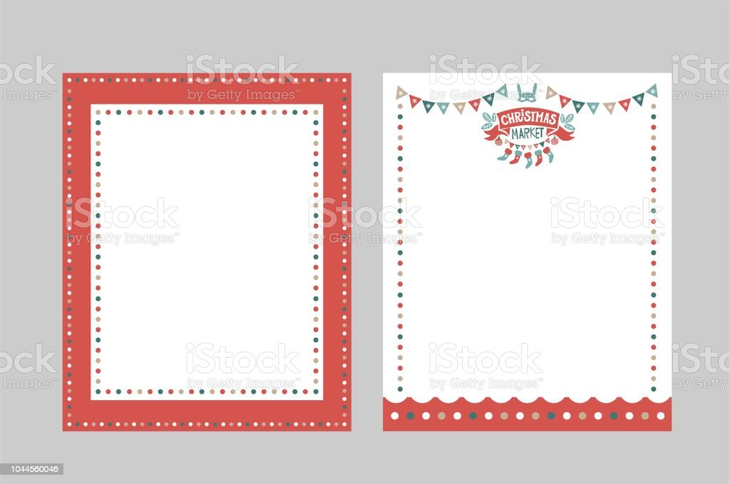 christmas frame for congratulations invitations postcards stock