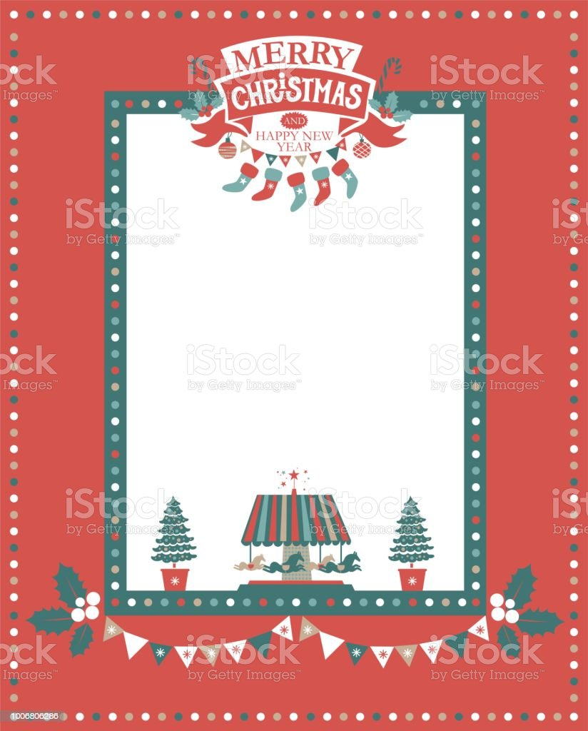 christmas frame for congratulations invitations postcards with