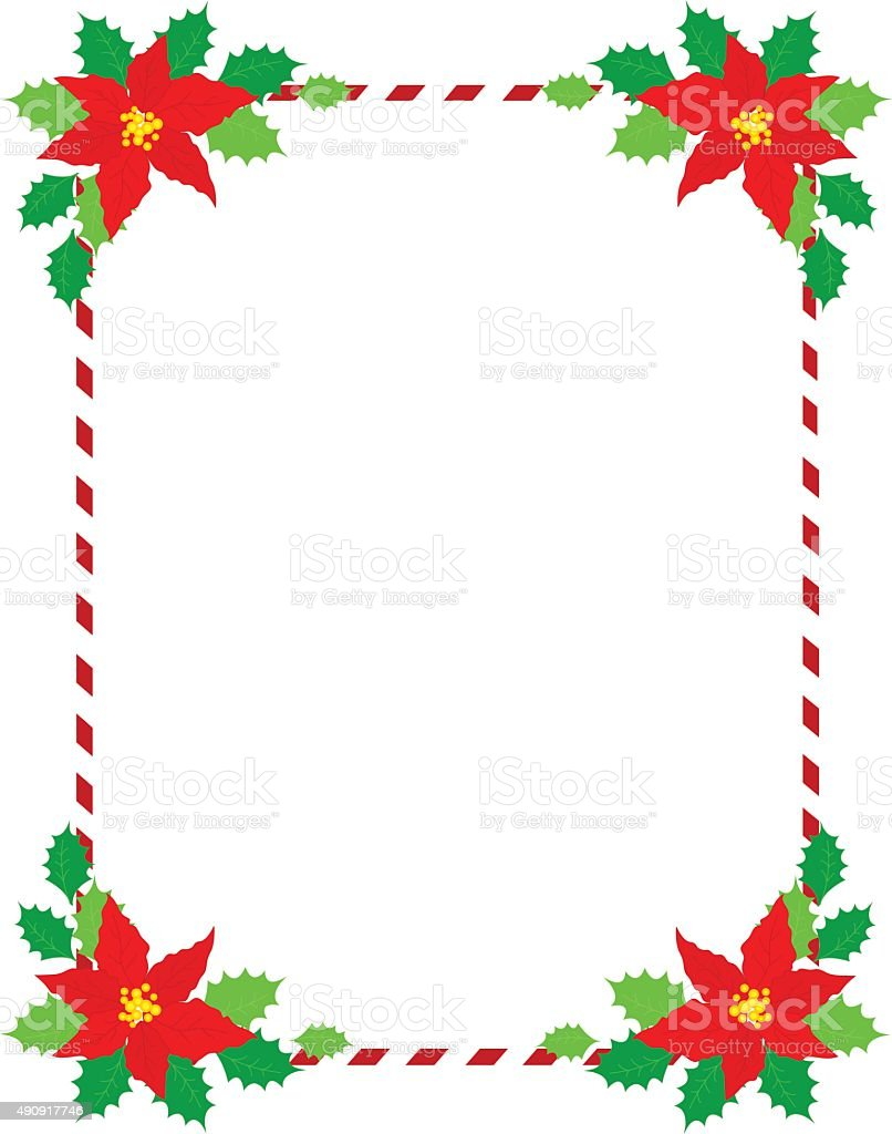 Christmas Frame Poinsettia Stock Vector Art & More Images of 2015 ...