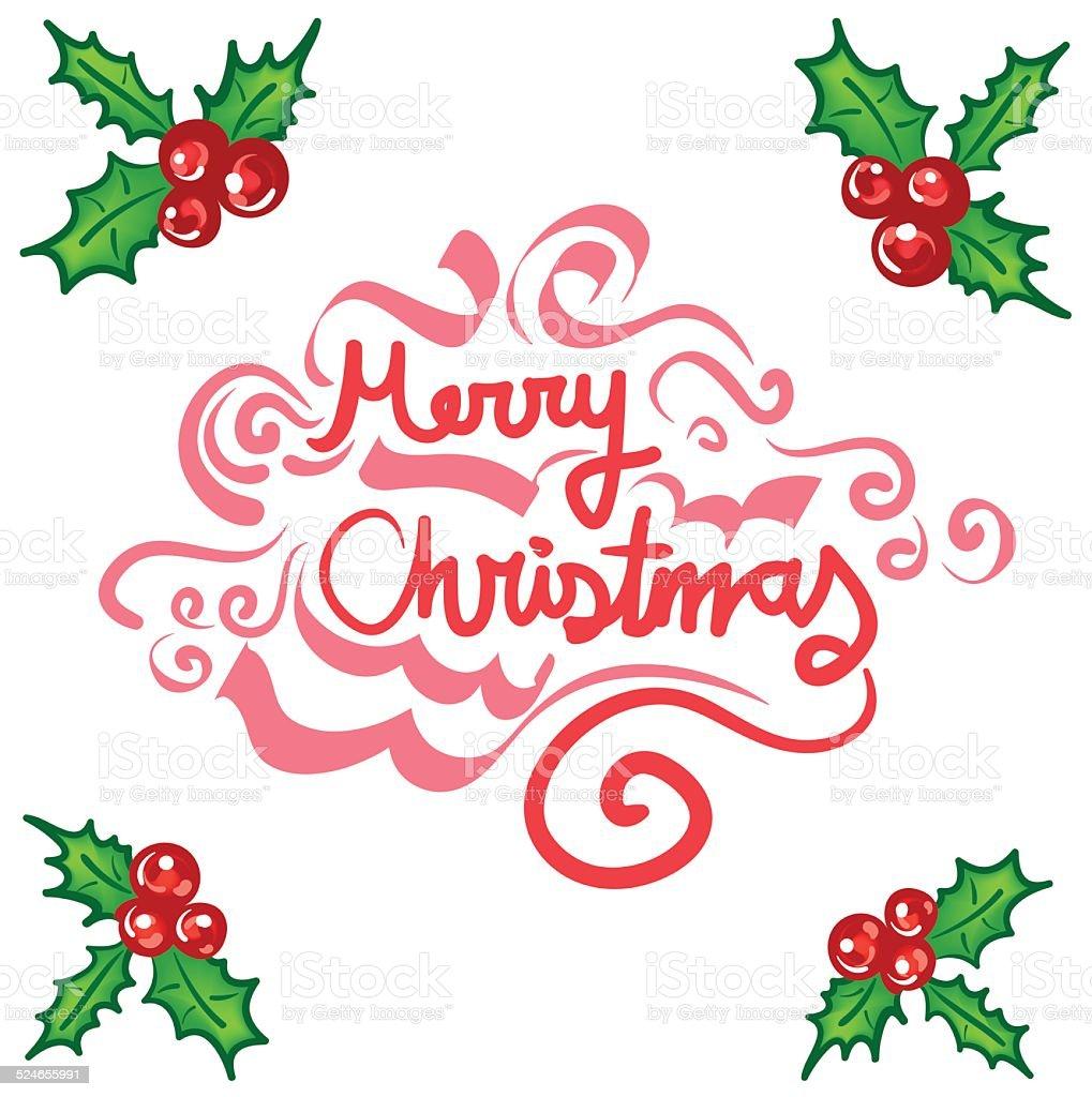christmas frame template with mistletoe stock vector art more