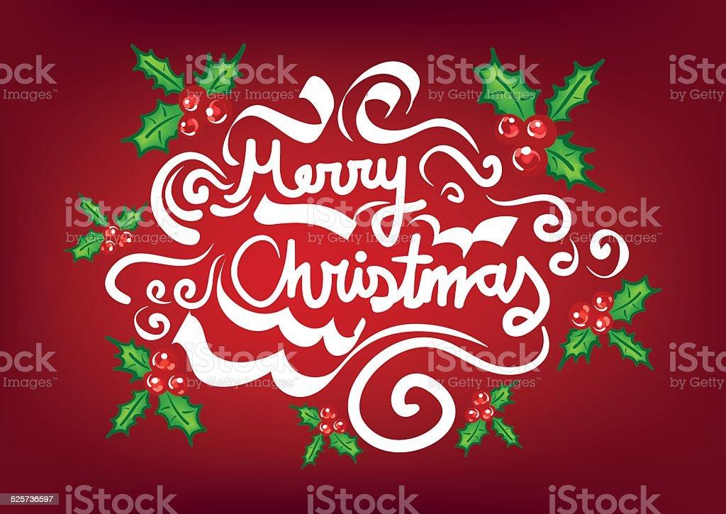Christmas Frame Template with mistletoe vector art illustration