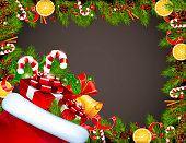 Santa Claus Sack Full of Gift Boxes