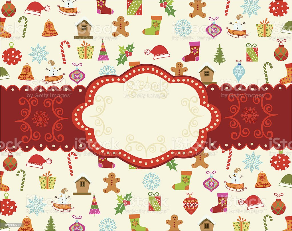 Christmas frame . royalty-free stock vector art