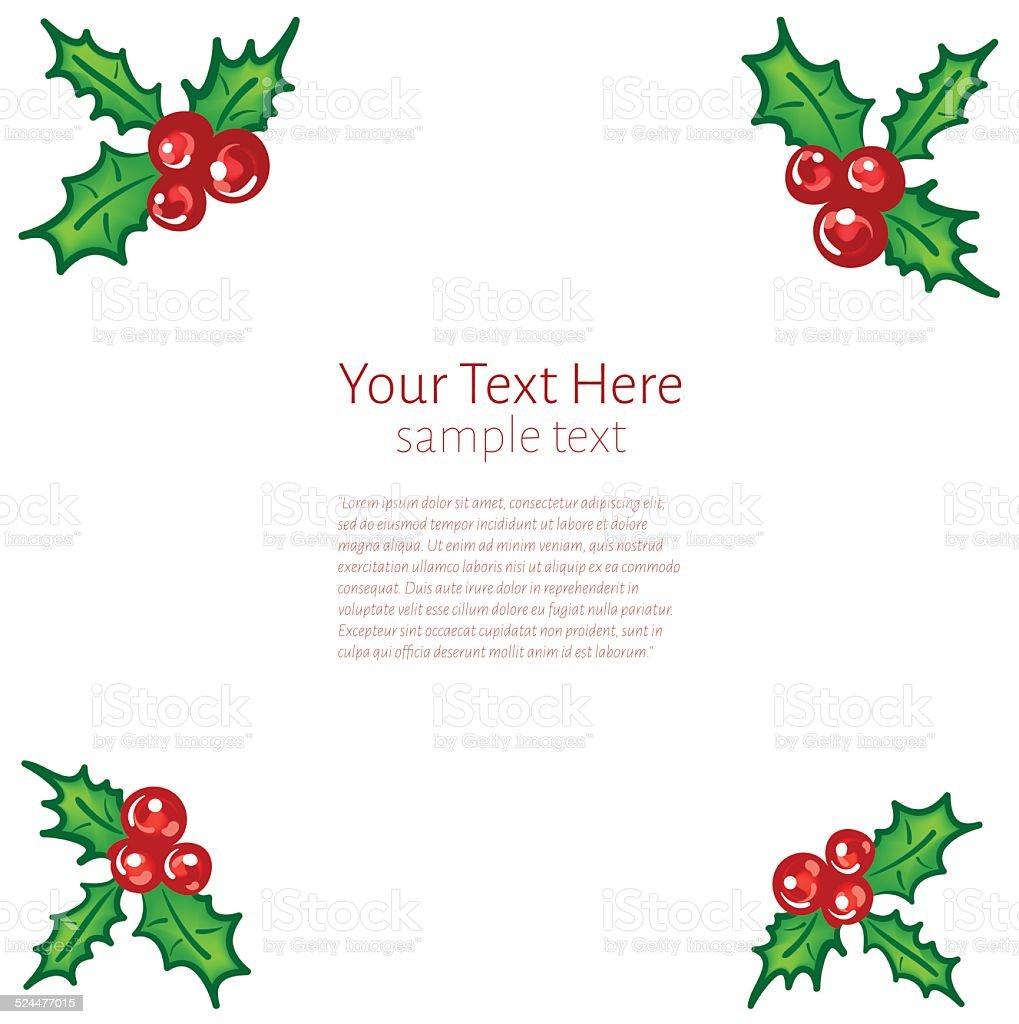 Christmas Frame vector art illustration