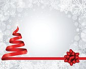 Winter Frame with shape of a Christmas tree. EPS 10 file.