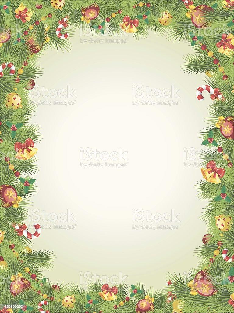 Cornici Di Natale.Cornice Di Natale Con Rami Di Albero Di Pino Immagini