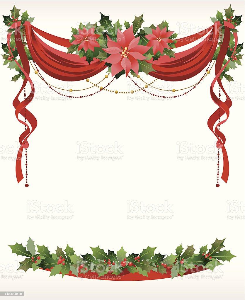christmas frame with pointsettia royalty free christmas frame with pointsettia stock vector art - Free Christmas Photo Frames
