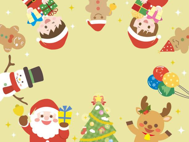 bildbanksillustrationer, clip art samt tecknat material och ikoner med christmas frame2 - sparkle teen girl