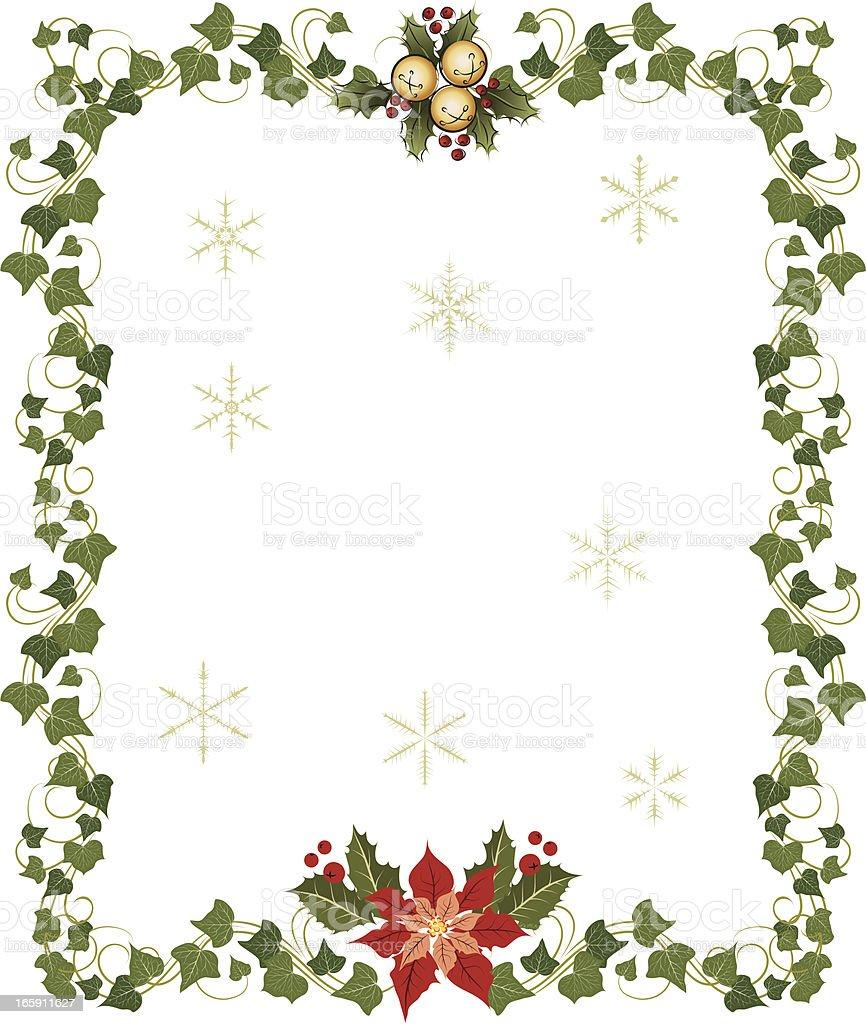 christmas frames vector art illustration
