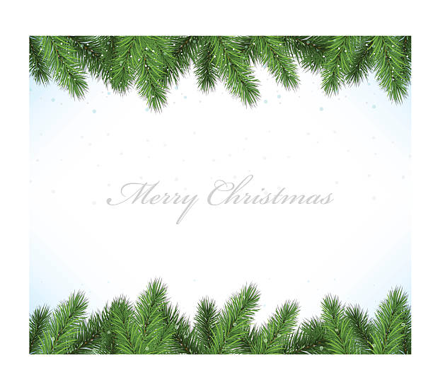 christmas framework with fir tree - twig stock illustrations, clip art, cartoons, & icons