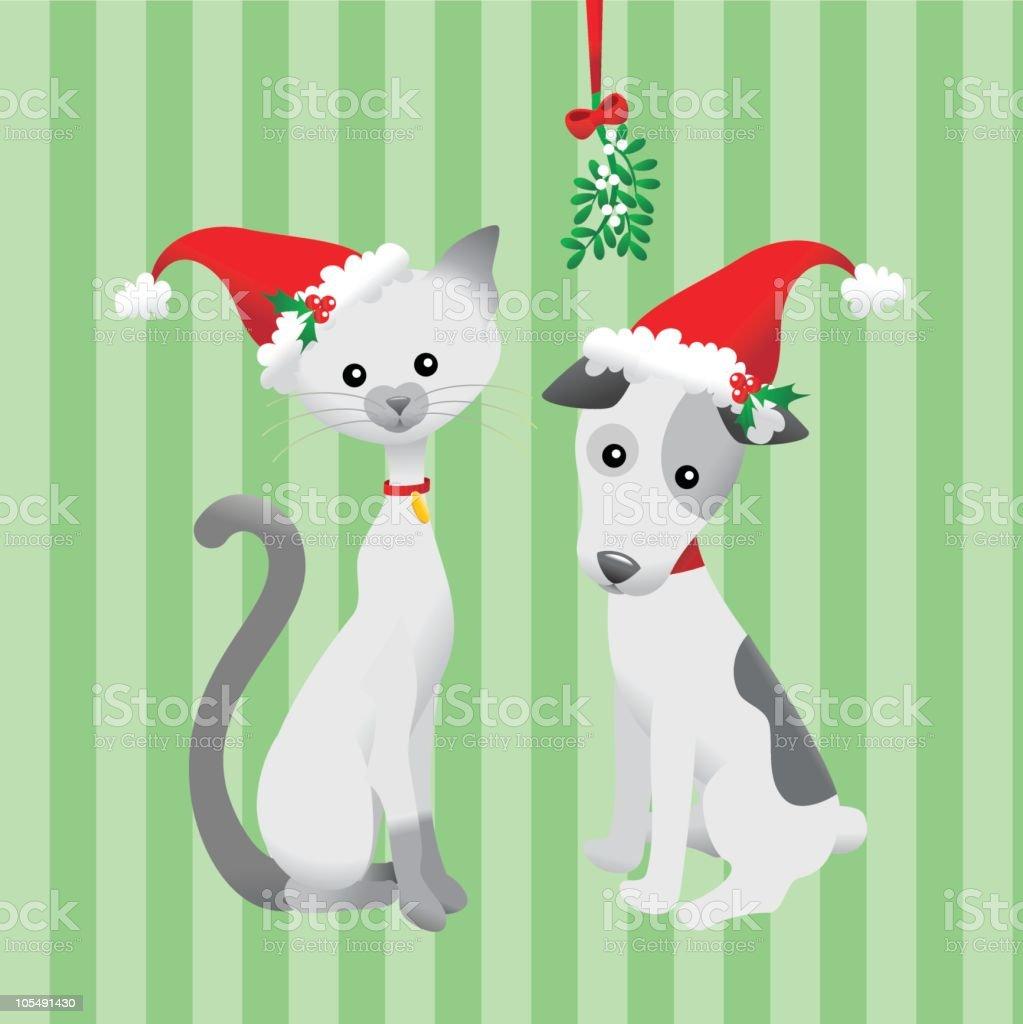 Christmas Friends royalty-free stock vector art