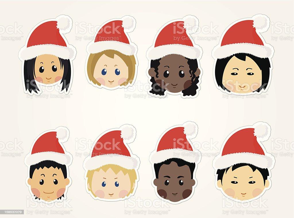 Weihnachten Funny.Weihnachten Funny Kidsicons Stock Vektor Art Und Mehr Bilder Von