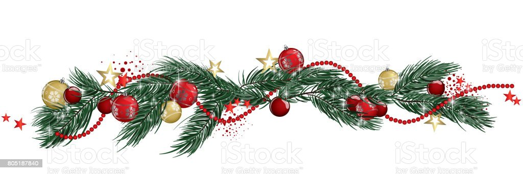 Christmas Garland Banner Stock Illustration Download Image Now