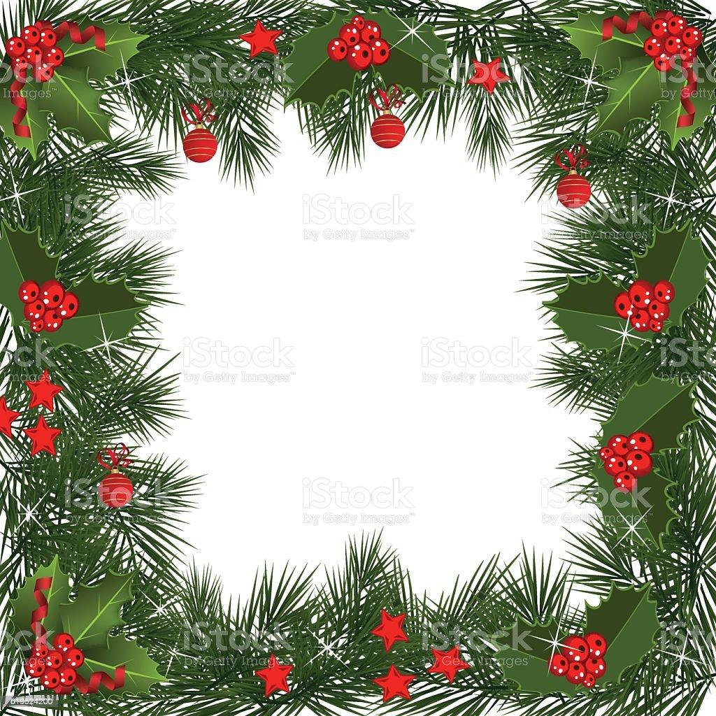 Christmas garland border stock vector art istock