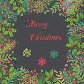 Vector Christmas garland .