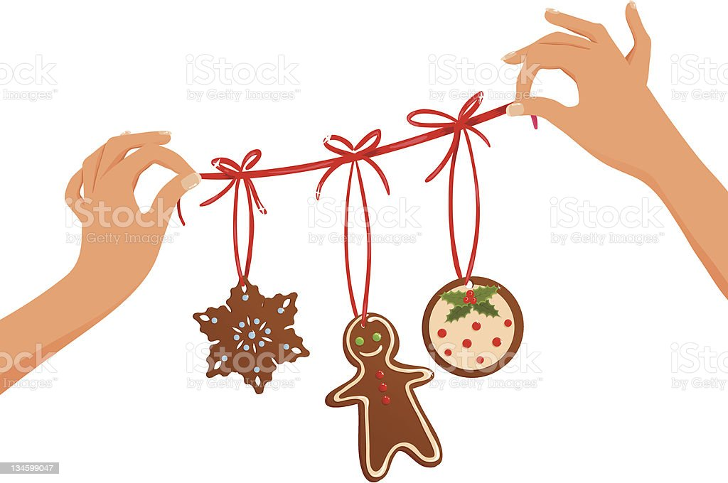 Christmas garland royalty-free christmas garland stock vector art & more images of baked pastry item