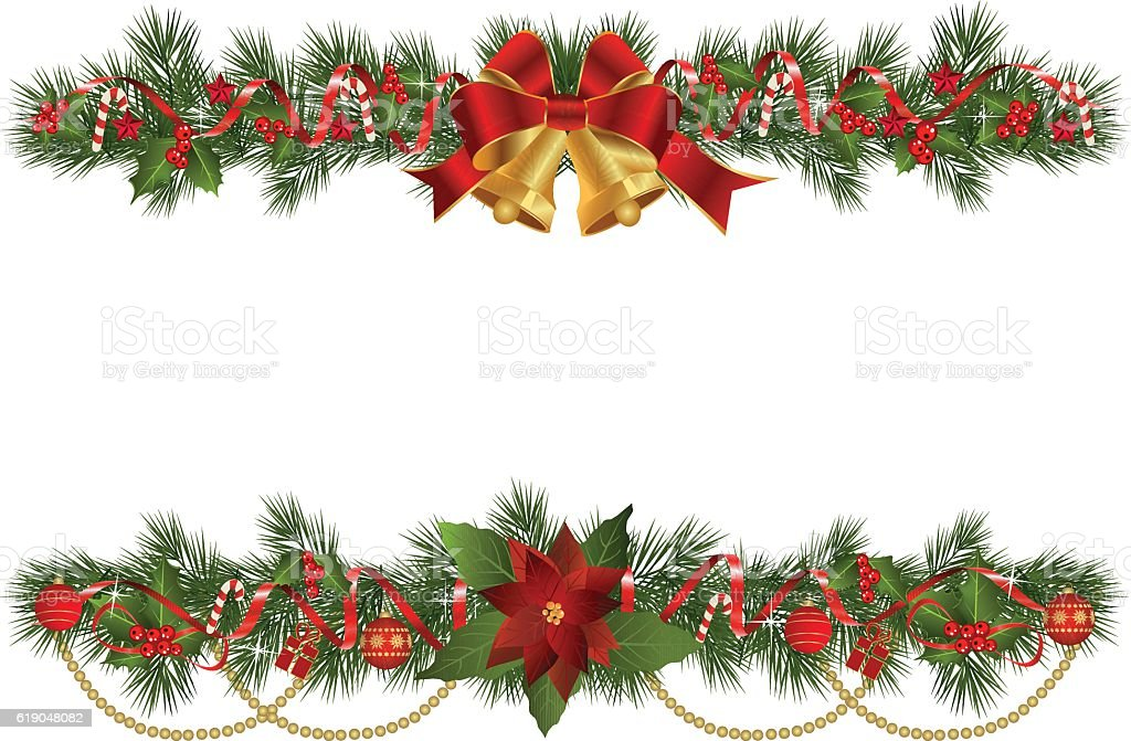 royalty free floral garland clip art vector images illustrations rh istockphoto com christmas garland clip art free images christmas holly garland clip art