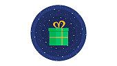 Christmas gift attractive icon vector