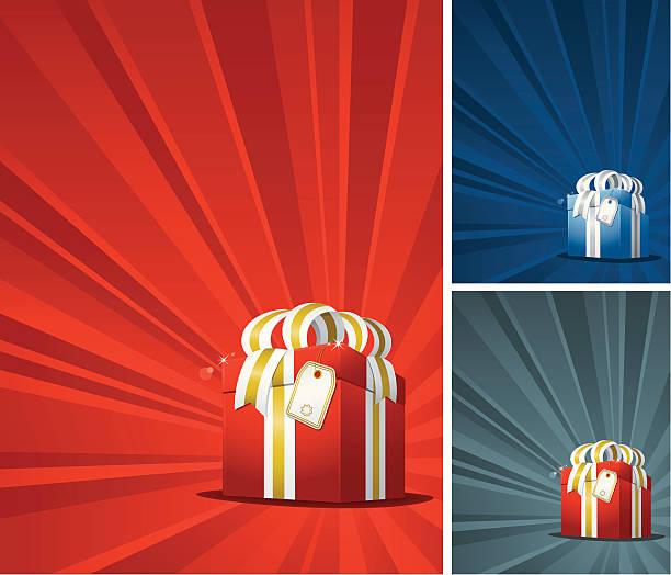 Christmas Gift Backgrounds vector art illustration