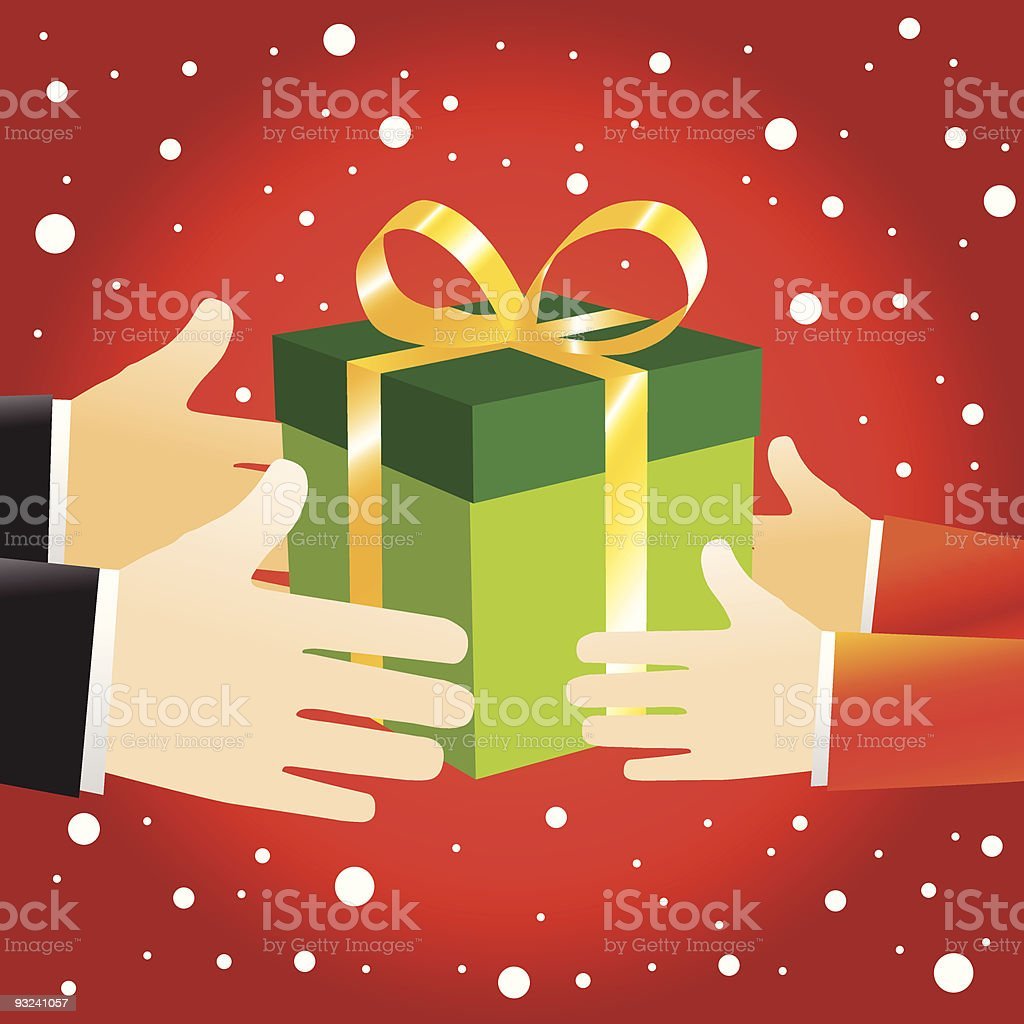 Christmas Gift box offering royalty-free stock vector art