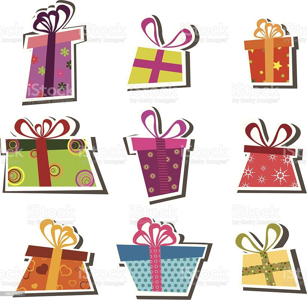 Christmas gift box royalty-free christmas gift box stock vector art & more images of blue