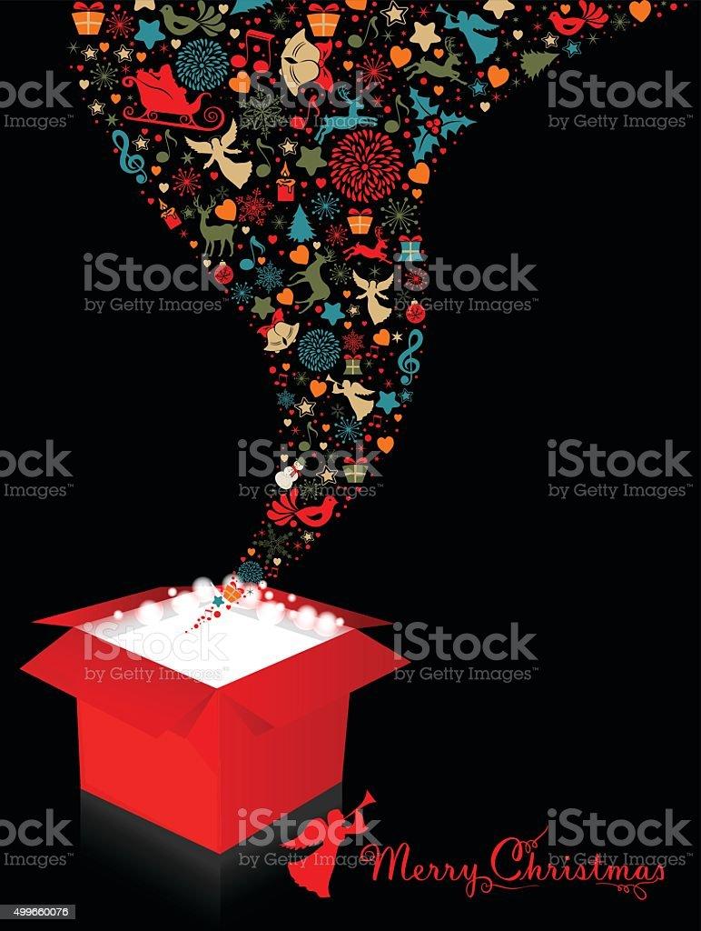 Christmas Gift Box vector art illustration