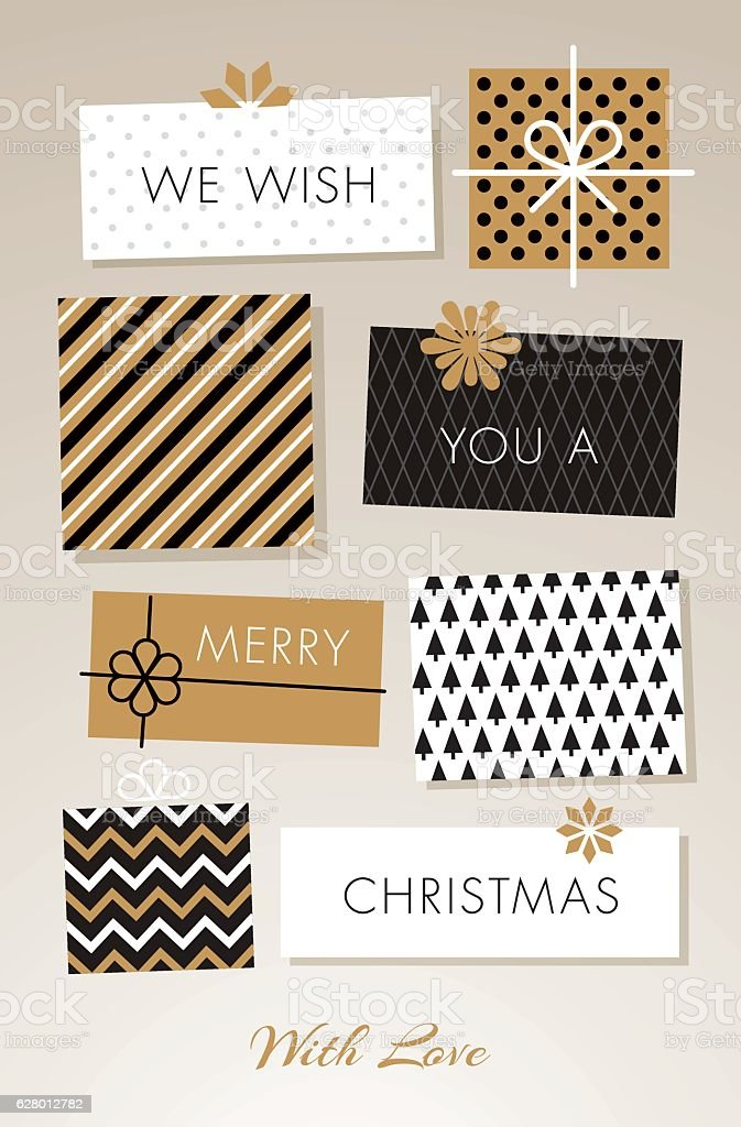Christmas gift boxes - Illustration Christmas gift boxes  Backgrounds stock vector
