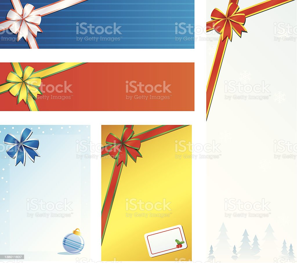 Christmas Gift Panel vector art illustration