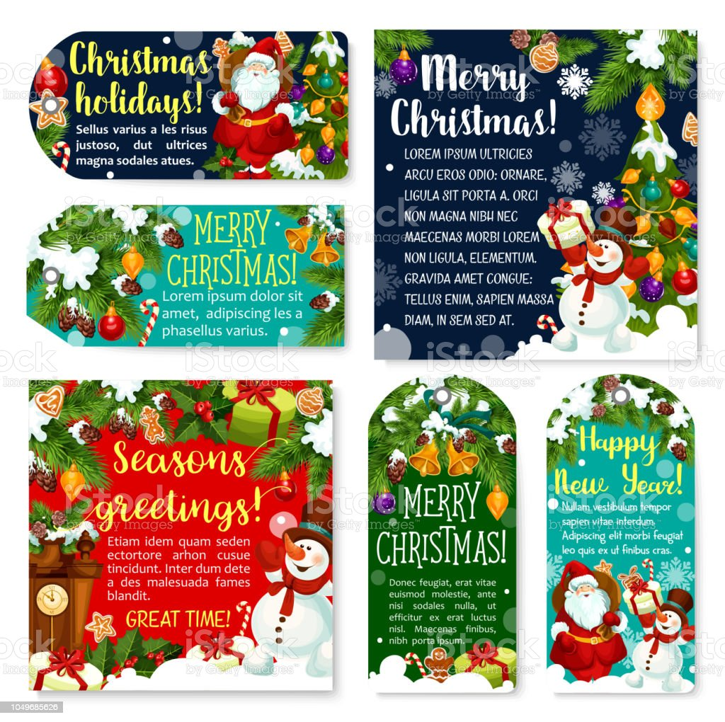 christmas gift tag with xmas new year greetings royalty free christmas gift tag with