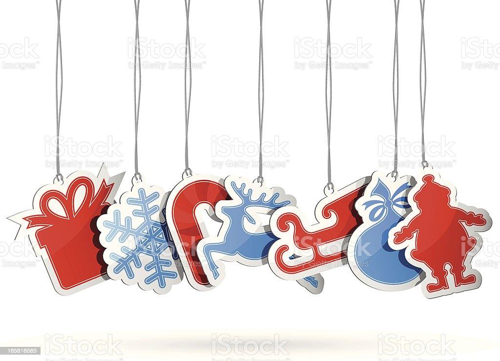 Christmas Gift Tags royalty-free stock vector art