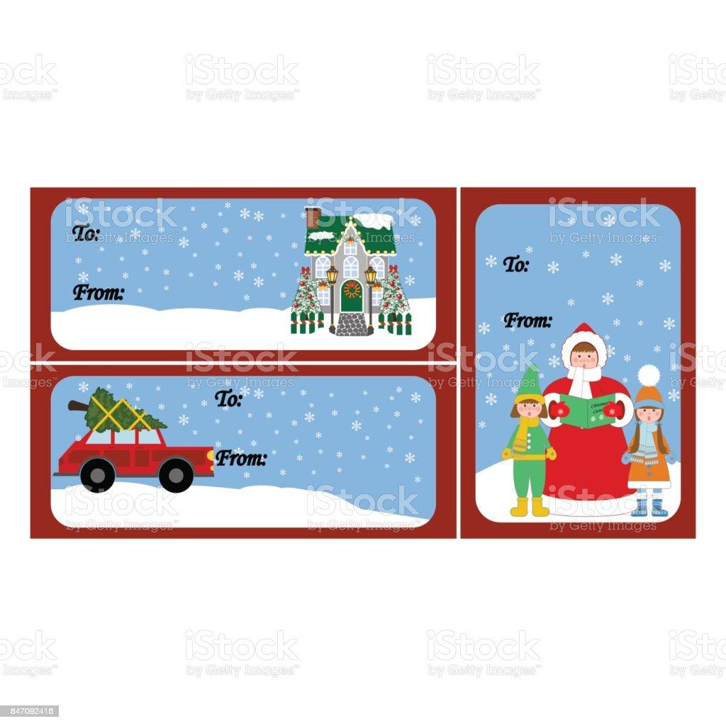 Christmas Car Gift Tags