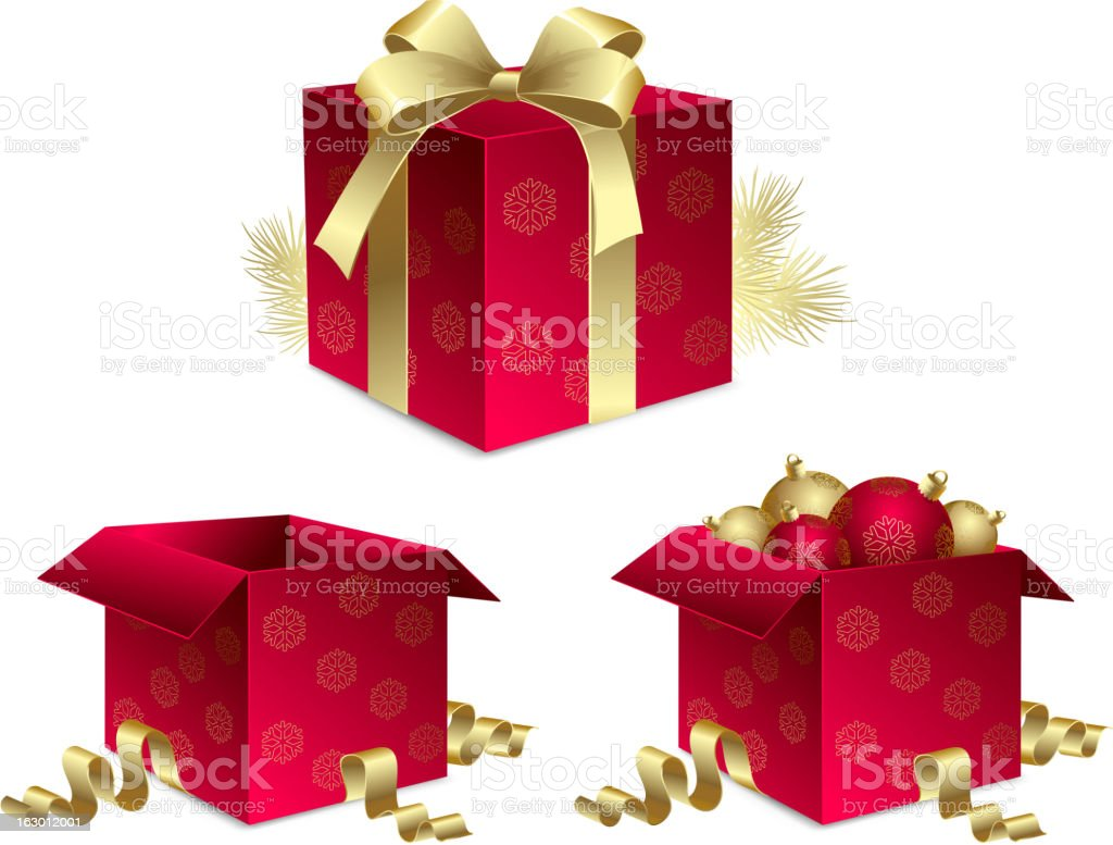 Christmas gift royalty-free christmas gift stock vector art & more images of abstract