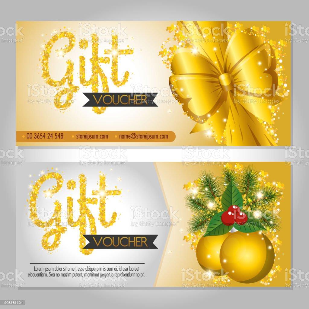 Christmas gift voucher gift card stock vector art more images of christmas gift voucher gift card royalty free christmas gift voucher gift card stock vector art yadclub Gallery
