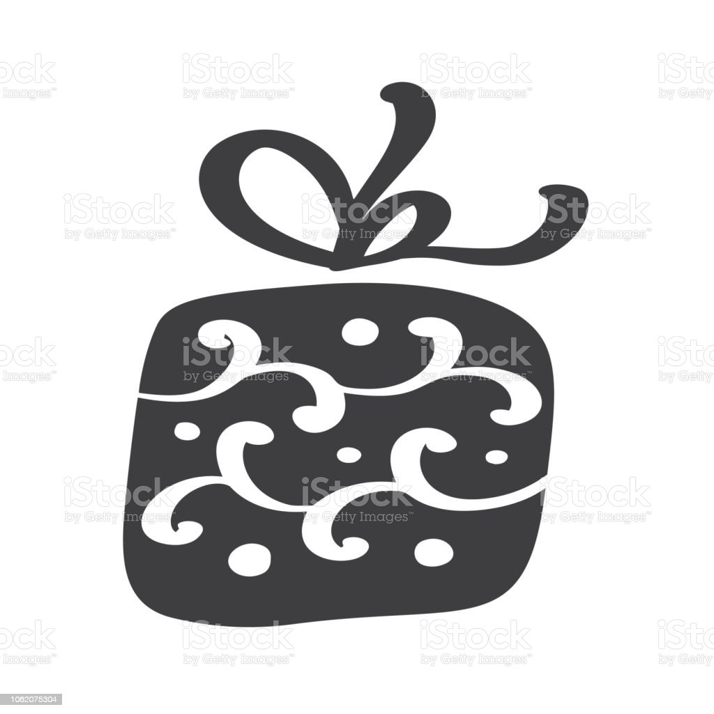 Christmas Giftbox Vector Icon Silhouette Simple Gift Contour Symbol Isolated On White Web Sign Kit Of Stylized Spruce Handdraw Scandinavian Picture Stock Illustration Download Image Now Istock