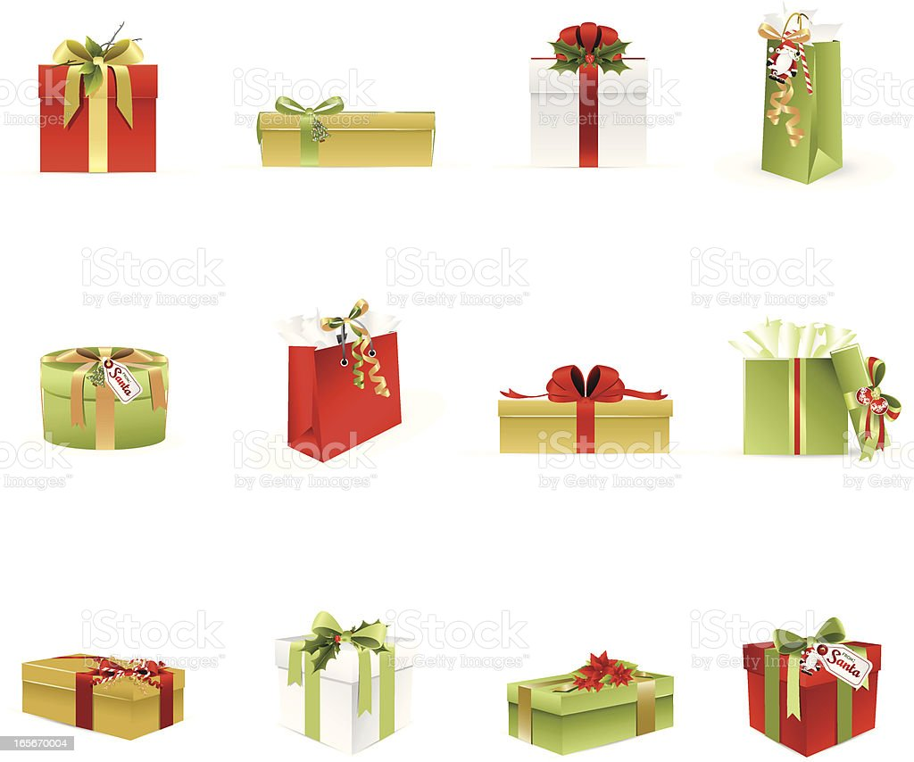 Christmas Gifts and Presents vector art illustration