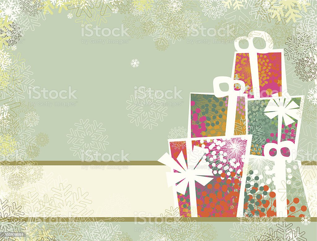 Christmas gifts banner royalty-free stock vector art