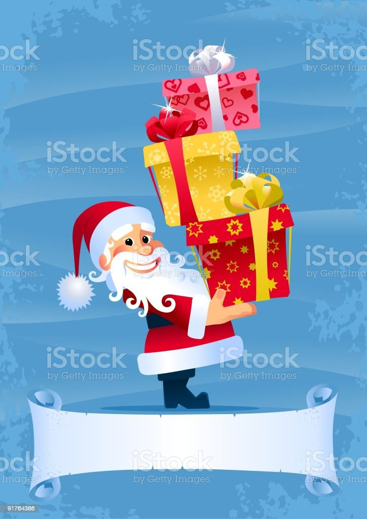 Christmas Gifts from Santa royalty-free stock vector art