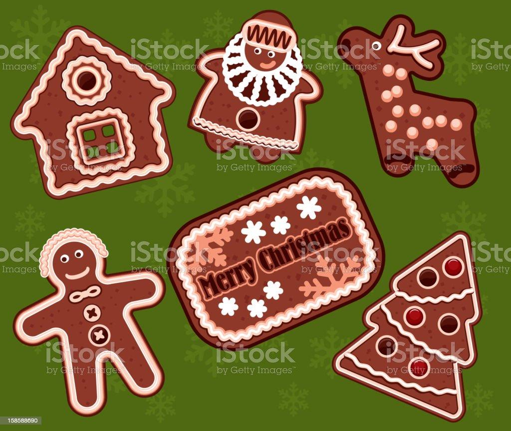 Christmas gingerbread cookies royalty-free stock vector art