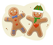 Christmas Gingerbread Cookies Vector Illustration Cartoon.