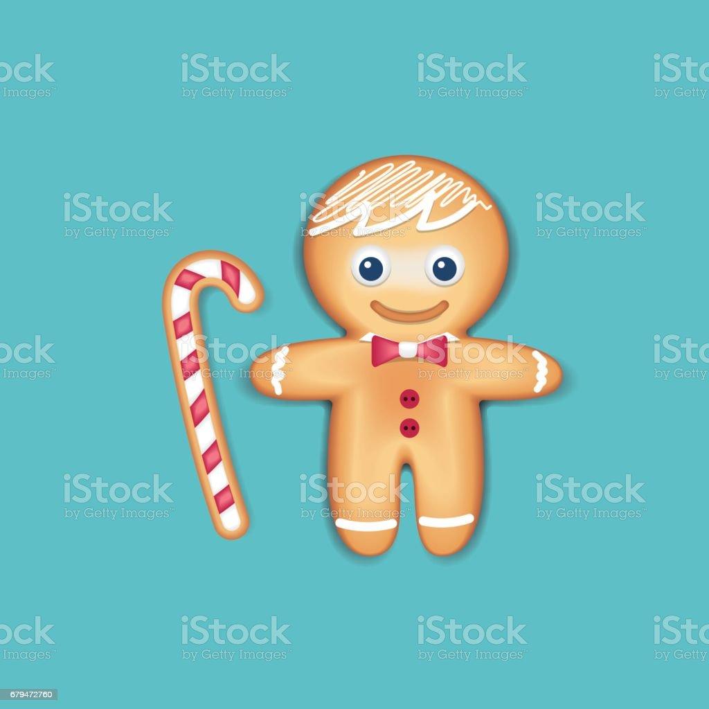 聖誕姜餅人餅乾 免版稅 聖誕姜餅人餅乾 向量插圖及更多 人的臉部 圖片