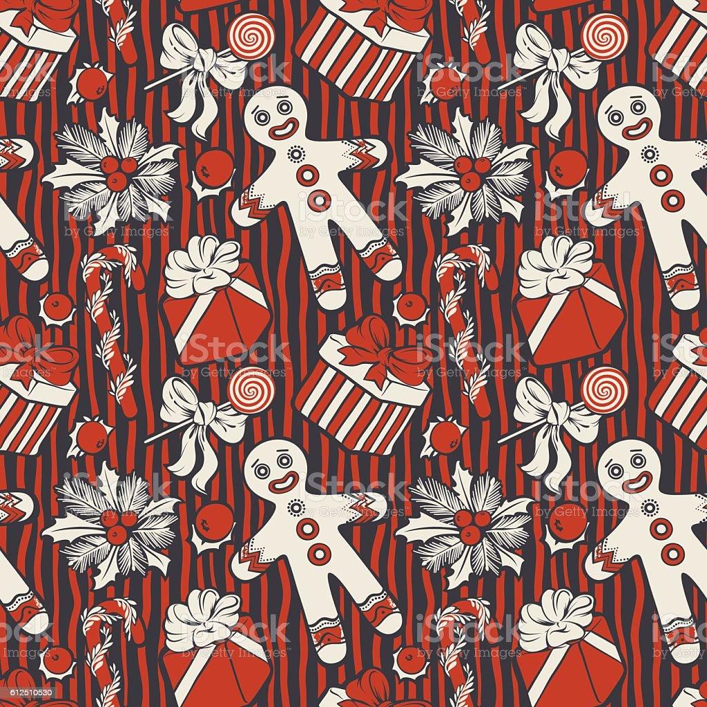 Christmas Gingerbread Man Pattern Stock Vector Art 612510530 Istock