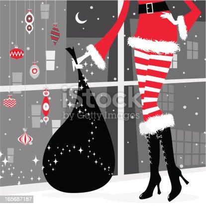 istock Christmas girl 165687187