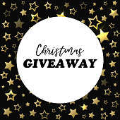 Christmas giveaway banner. Card for social media